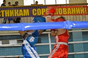 Момент боя с участием Данила Жуланова (в синей форме)