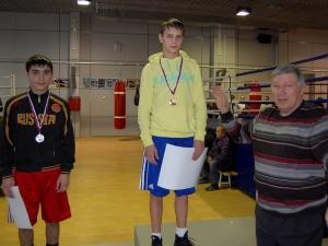 Награждение победителей. Крайний справа Николай Анфимов - мастер спорта международного класса, участник Олимпиады 1972 года в Мюнхене