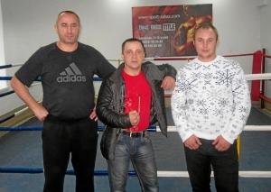 Представители киселевской команды (слева направо) Игорь Пужак, Иван Пономарев, Вадим Адыбаев