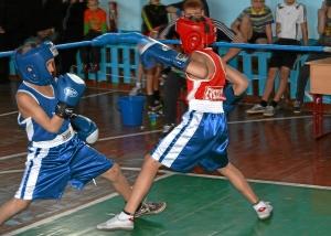 С больши накалом проходил бой Николая Шестакова (в синей форме) против Данила Жуланова (2)