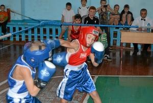 С больши накалом проходил бой Николая Шестакова (в синей форме) против Данила Жуланова (3)