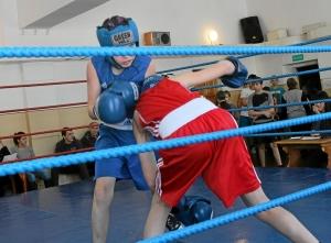 Момент боя с участием Антона Траутваина (в синей форме)