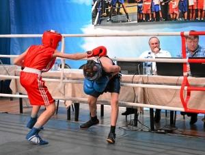 Полуфинал. Момент боя с участием Ивана Балашова (в красной форме) (1)