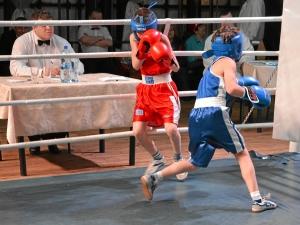 Финал. Момент боя с участием Егора Мартыненко (в синей форме) 1 (2)