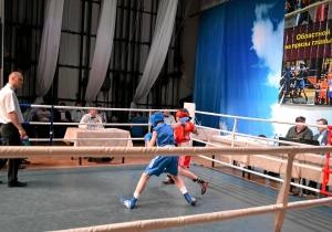Четвертьфинал. Момент боя с участием Ивана Балашова (в синей форме) (1)