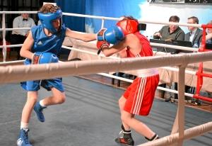 Четвертьфинал. Момент боя с участием Ивана Балашова (в синей форме) (3)