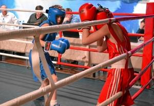Четвертьфинал. Момент боя с участием Ивана Балашова (в синей форме)