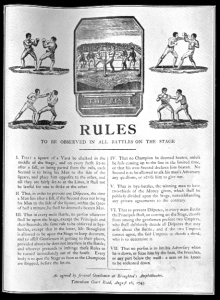 1743 год. Первые правила бокса