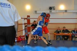 Момент боя с участием Тимура Амирбека (в синей форме)  (2)