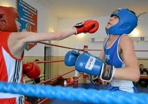 Момент боя с участием Тимура Амирбека (в синей форме)  (3)