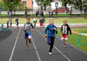 Бег на 100 метров. Слева направо Александр Савкин, Иван Балашов, Егор Мартыненко