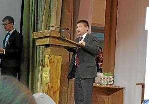 Выступление на открытии соревнований Юрия Арбачакова