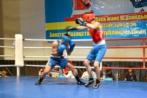 Полуфинал. Момент боя с участием Влада Трофимова (в синей форме) 2