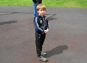 Самый юный участник соревнований - Влад Плещев