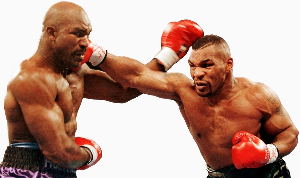 TYSON PUNCHES HOLYFIELD IN WBA HEAVYWEIGHT TITLE