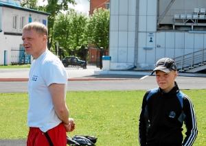 Участники соревнований Анатолий и Вячеслав Горбуновы