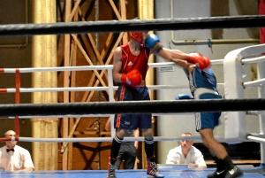 Четвертьфинал. Момент боя с участием Влада Трофимова (в синей форме) (1)