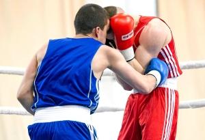 Четвертьфинал. Момент боя с участием Романа Алевского (в синей форме) (5)