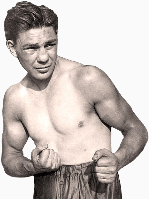 Harry Greb In Fighting Pose Waist Up