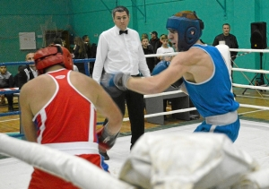 14 Полуфинальный бой Дмитрия Богданова (в синей форме)