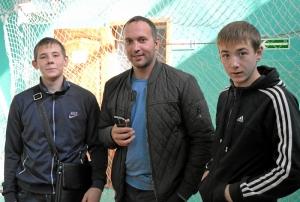 16 На соревнованиях (слева направо): Роман Романчук, Ренат Шахабутдинов и Александр Малахов