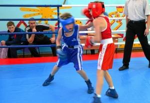 1 (11) Момент боя с участием Егора Мартыненко (в синей форме)