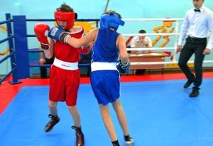 1 (14) Момент боя с участием Александра Савкина (в синей форме)