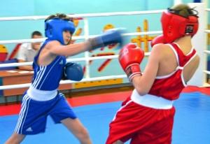 1 (16) Момент боя с участием Александра Савкина (в синей форме)