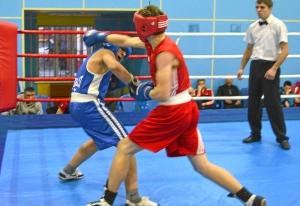 1 (19) Полуфинал. Момент боя  Рубика Шахбазяна (в синей форме)
