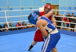 1 (21) Полуфинал. Момент боя  Рубика Шахбазяна (в синей форме)