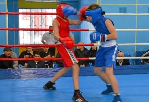 1 (33) Финал. Момент боя  Ивана Балашова (в синей форме)