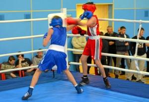 1 (34) Финал. Момент боя  Ивана Балашова (в синей форме)