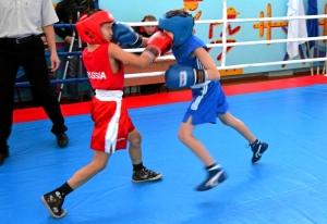 1 (34) Финал. Момент боя с участием Егора Пономарева (в синей форме)