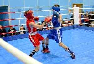 1 (5) Момент боя  Алексея Шелякина (в синей форме) с таштагольцем Данилом Чабаном