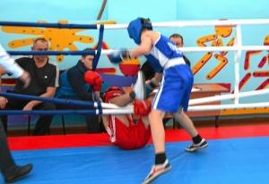 1 (54) Финал. Момент боя с участием Алексея Шелякина (в синей форме)