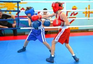 1 (7) Момент боя с участием Егора Мартыненко (в синей форме)