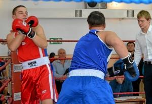 29 Момент боя с участием Ивана Бокарева (в синей форме)