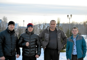 33 После соревнований (слева направо( П.Чабанов, И.Бокарев, И.Пужак, В.Пономарев
