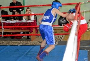 27 Финал. Момент боя с участием Алексея Шелякина (в синей форме)