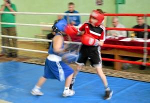 6 Финал. Момент боя с участием Андрея Рыбникова (в синей форме)