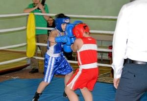 8 Финал. Момент боя с участием Заурбека Пугоева (в синей форме)