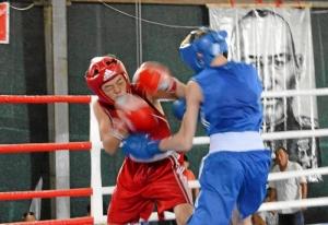 22 Финал. Момент боя Ивана Балашова (в синей форме)