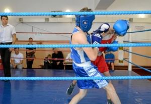 5 На ринге Сергей Лаптев (в синей форме)