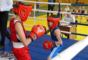 (1) На ринге Денис Ращук (в синей форме)