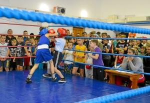 (1) На ринге Егор Шелков (в синей форме)