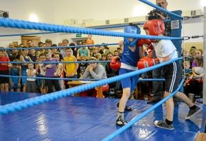 (3) На ринге Егор Шелков (в синей форме)