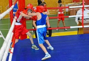 (4) На ринге Денис Ращук (в синей форме)