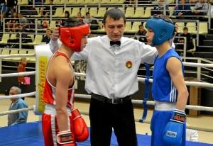 (1) Первый бой на соревнованиях. В ринге Владислав Тимиров (в синей форме)