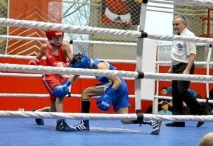 3 Полуфинал. На ринге Андрей Дёмшин (в красной форме) (1)