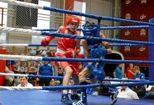 3 Полуфинал. На ринге Андрей Дёмшин (в красной форме) (2)